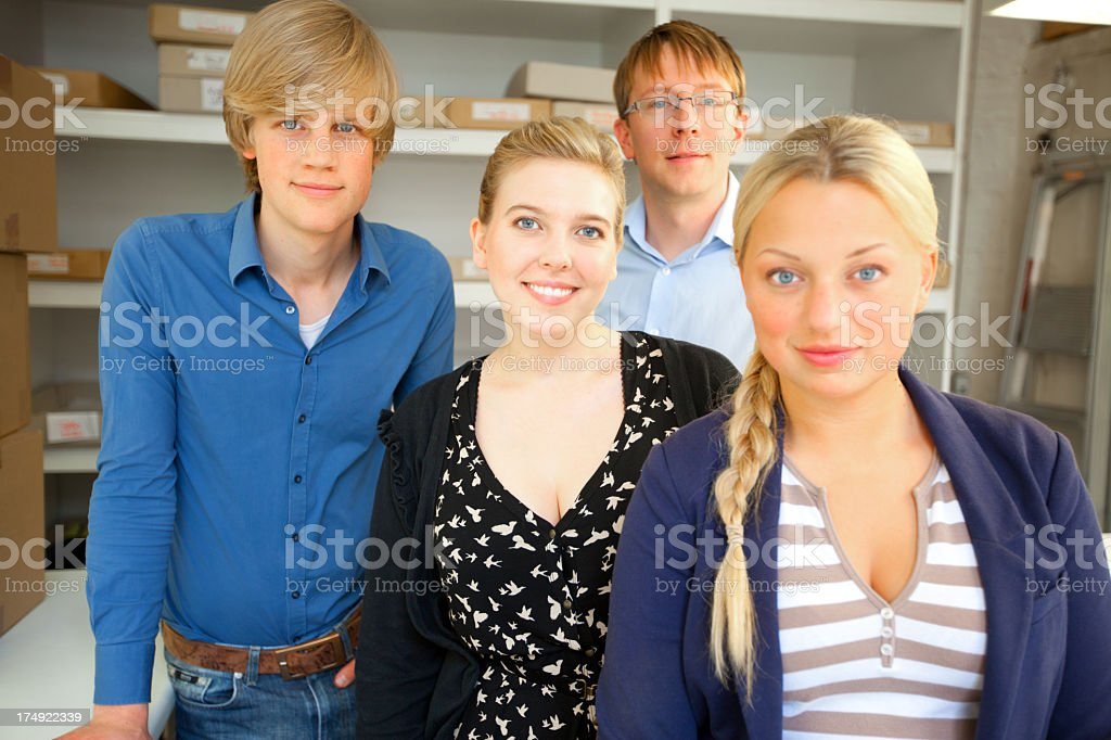team of young office workers stock photo