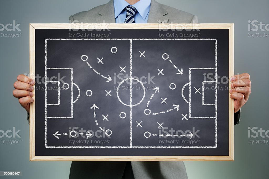Team organization and strategy stock photo