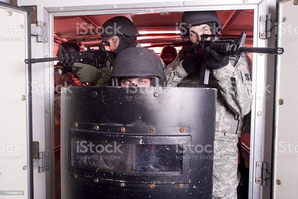 SWAT Team royalty-free stock photo