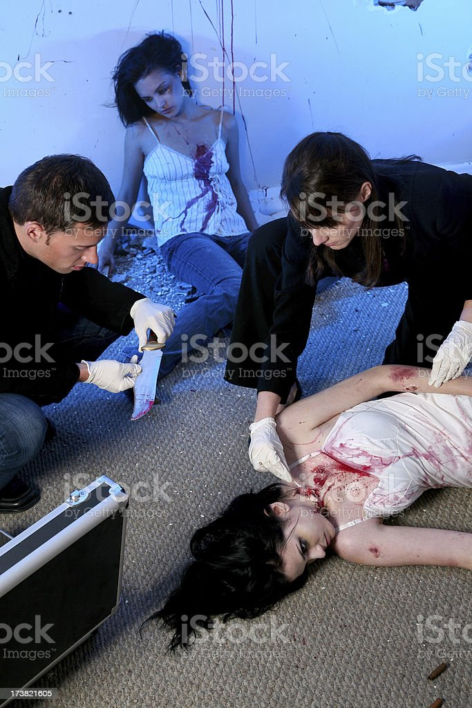 CSI Team royalty-free stock photo