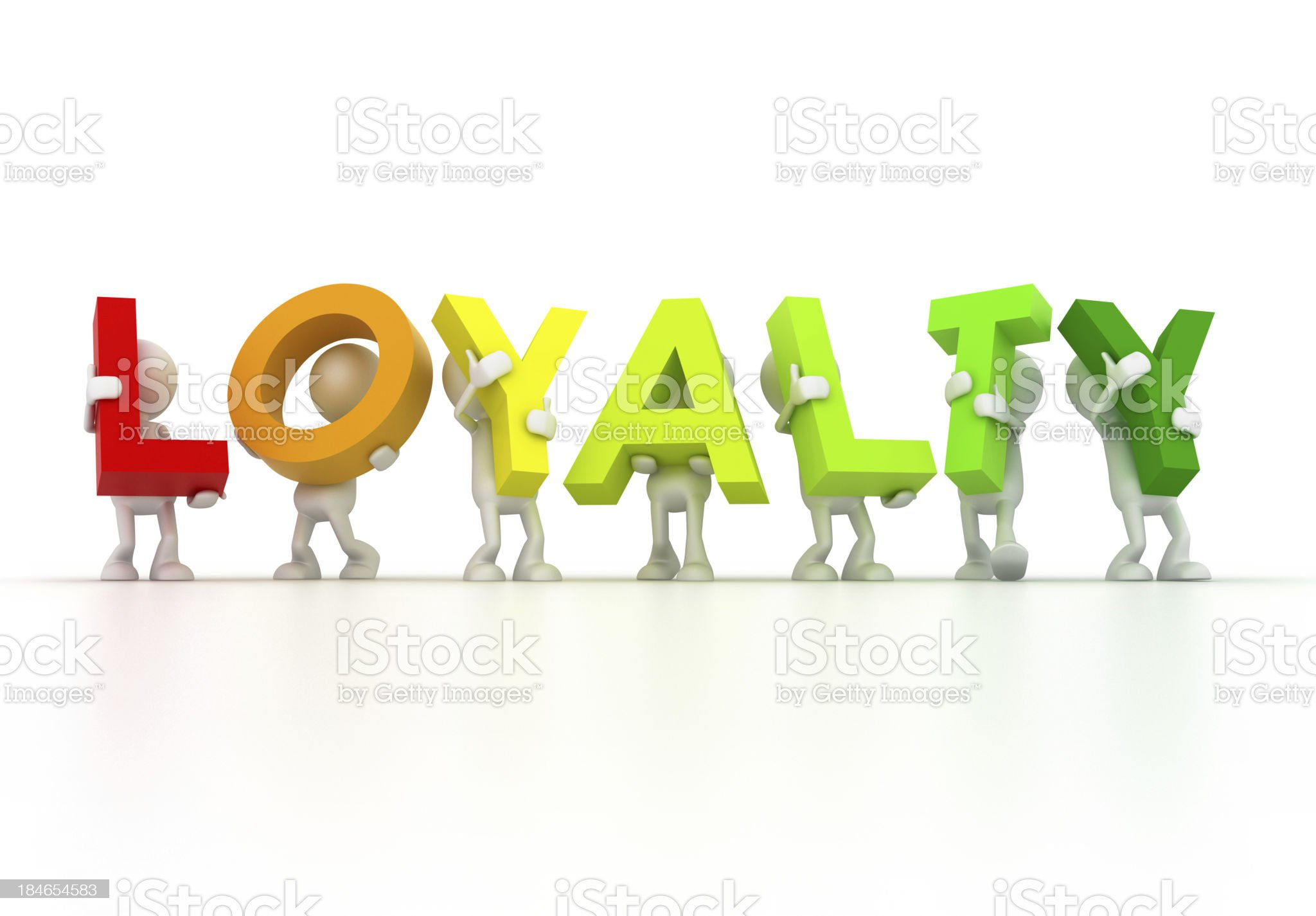 LOYALTY team royalty-free stock photo
