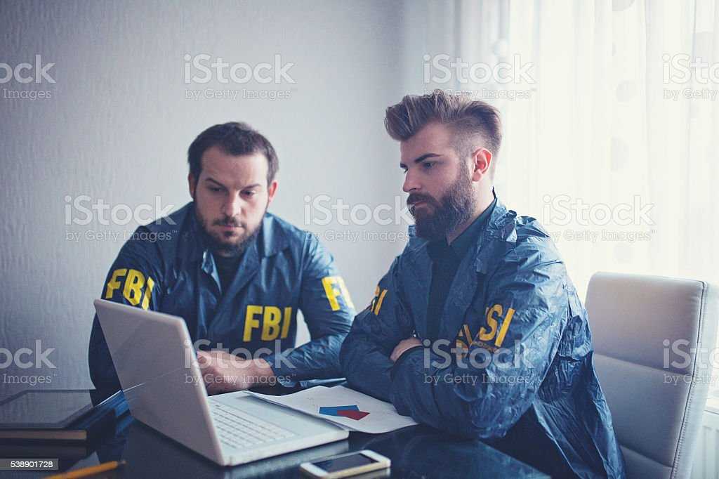 FBI team stock photo