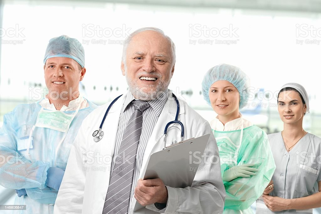 Team portrait of medical professionals royalty-free stock photo