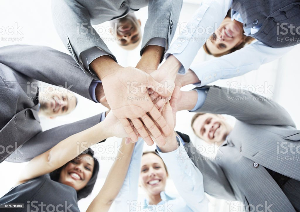 Team power! stock photo