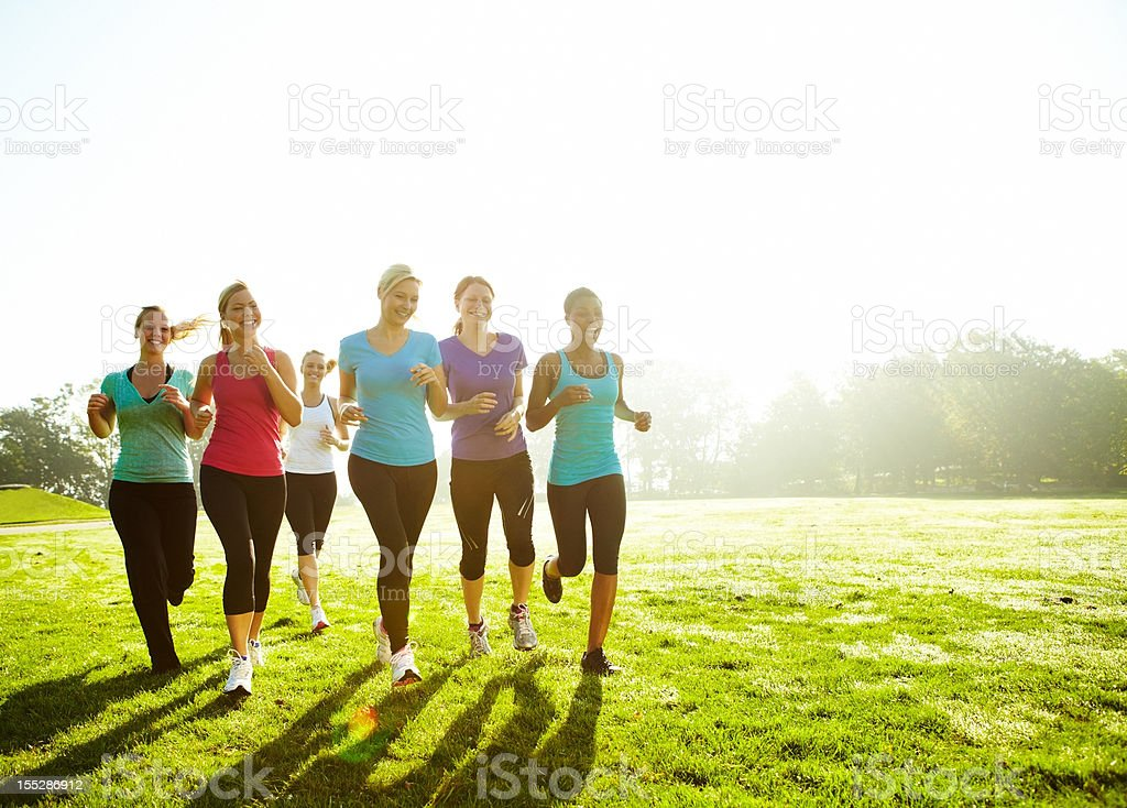 Team practice for the big marathon - Copyspace royalty-free stock photo