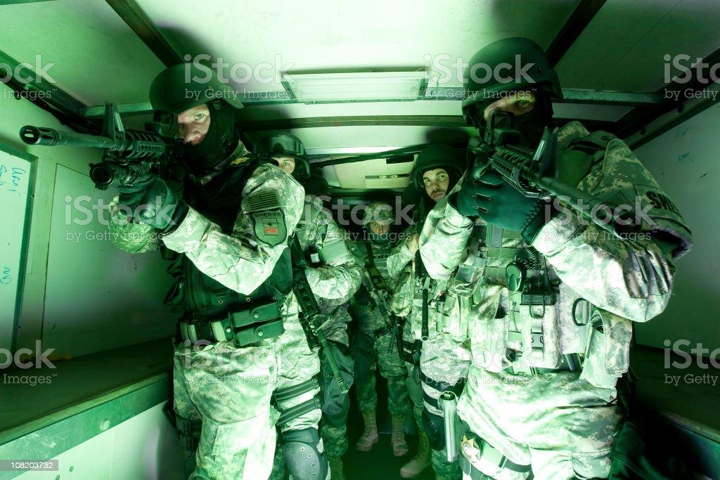 SWAT team preparing stock photo