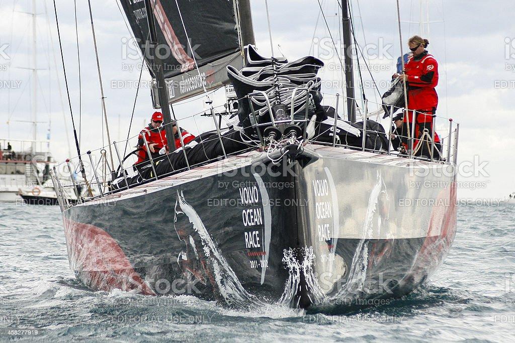 Team Puma on the Volvo Ocean Race 2.011-2.012. royalty-free stock photo