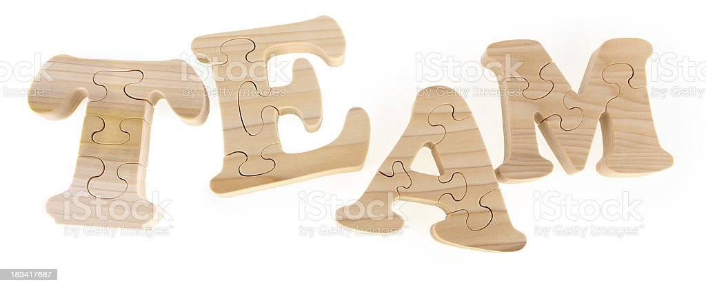 Team - Puzzle Letters royalty-free stock photo