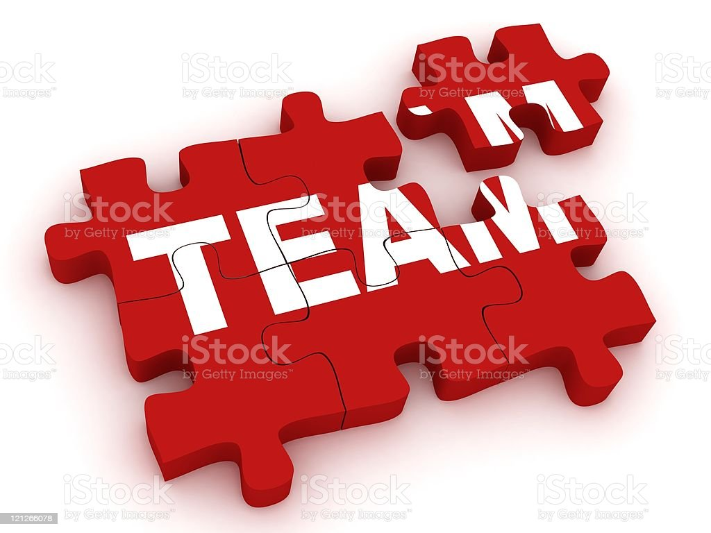Team Puzzle royalty-free stock photo