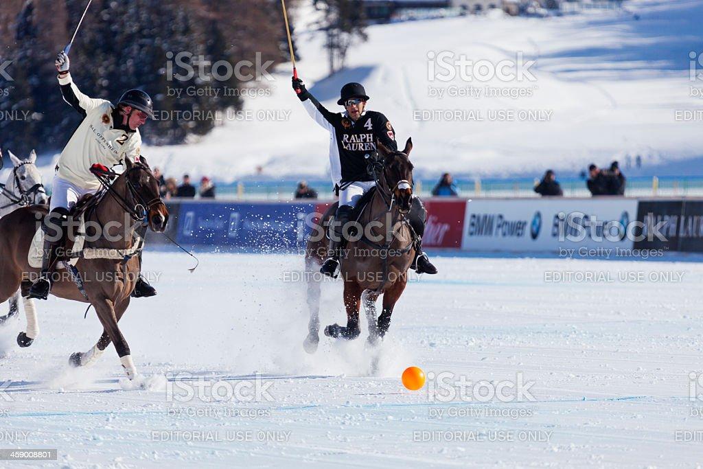 Team Ralph Lauren Attacking royalty-free stock photo