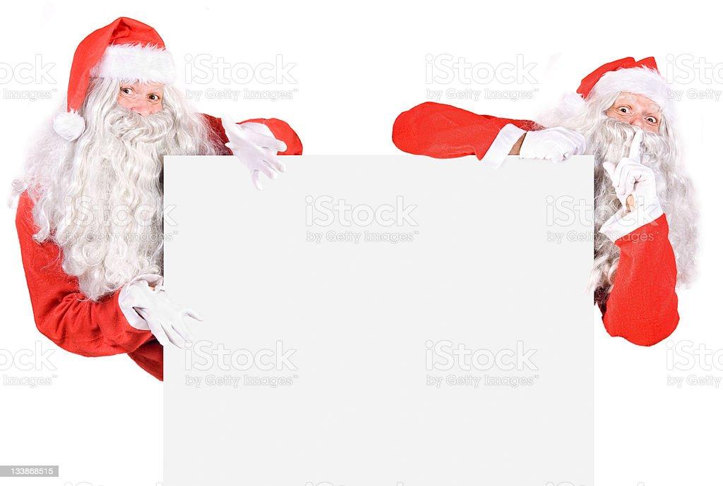 Team Santa Claus stock photo