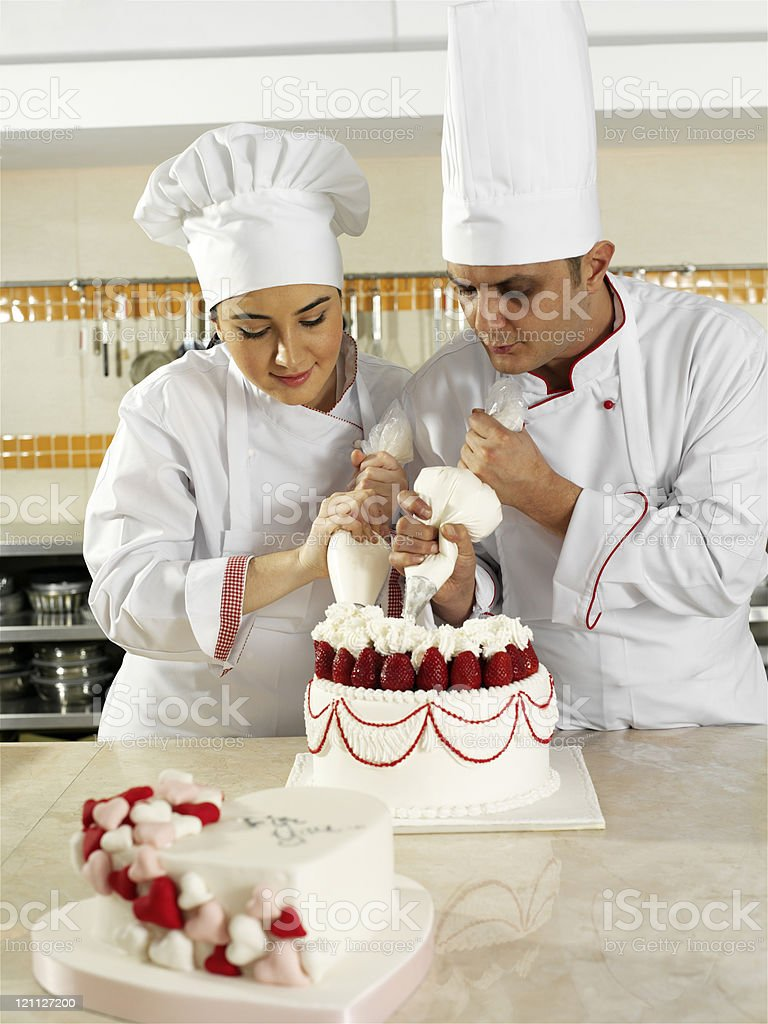 Team spirit in the kitchen royalty-free stock photo