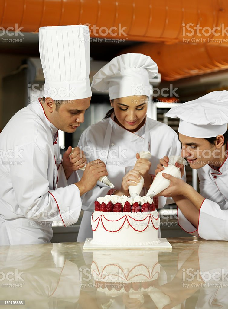 Team Spirit In The Kitchen royalty-free stock photo