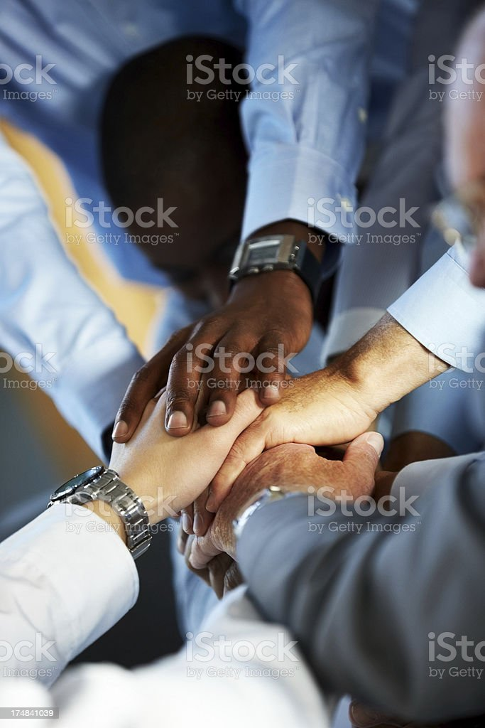 Team spirit in the office shared by coworkers royalty-free stock photo