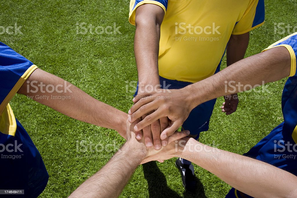 Team stack hands royalty-free stock photo