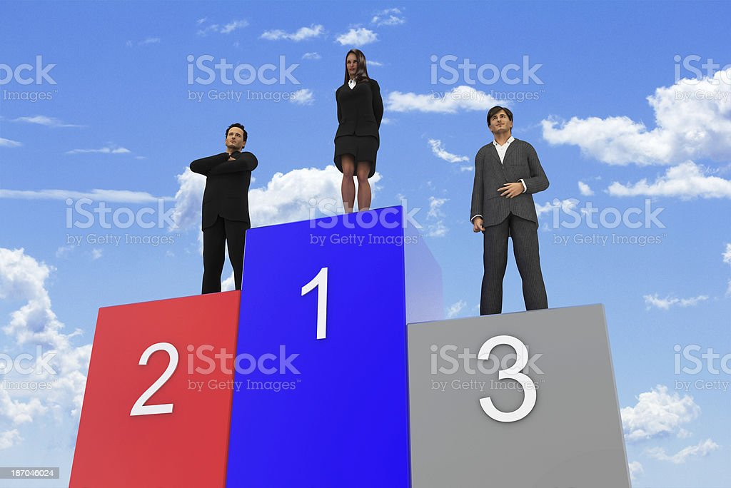 Team support for the Leader royalty-free stock photo