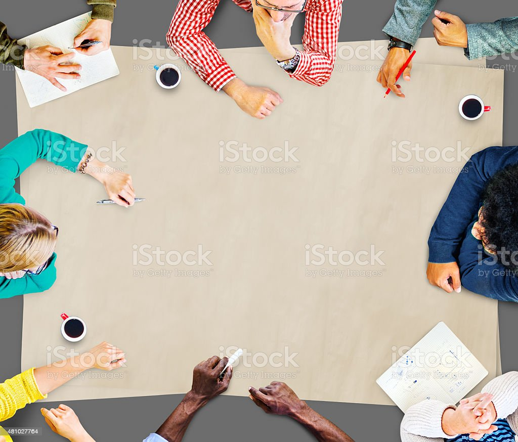 Team Teamwork Discussion Meeting Planning Concept stock photo