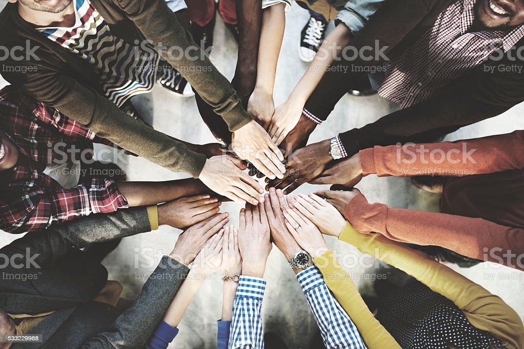 Team Teamwork Togetherness Collaboration Concept stock photo