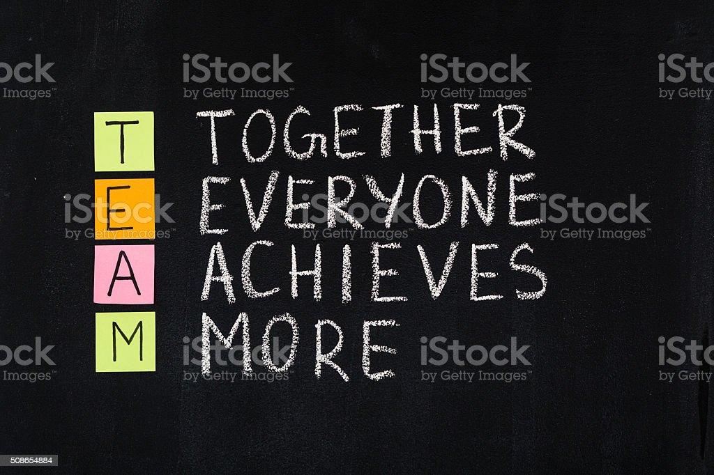 Team word acronym stock photo