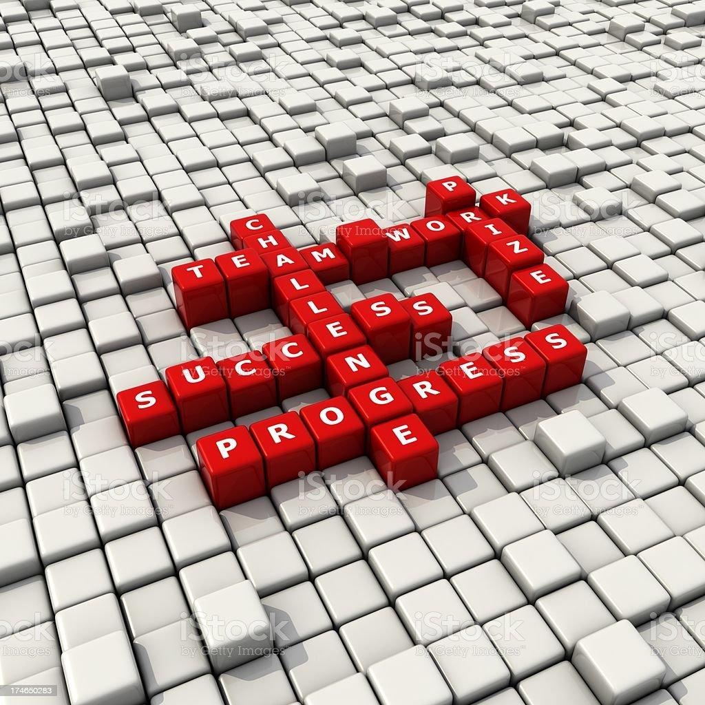 team work convex blocks crossword royalty-free stock photo