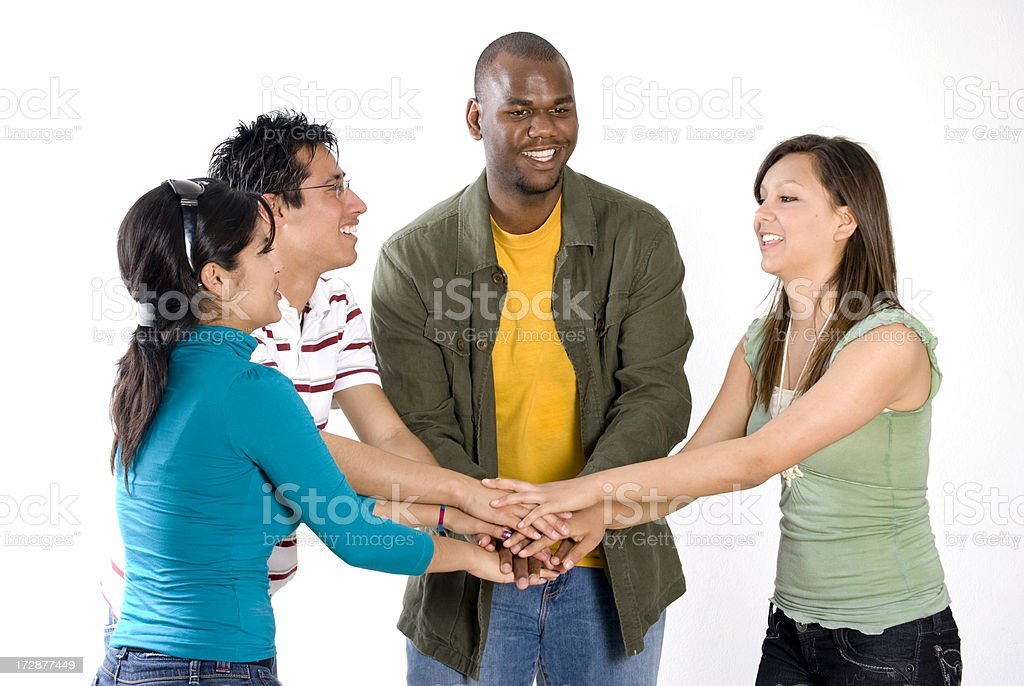 Team work royalty-free stock photo