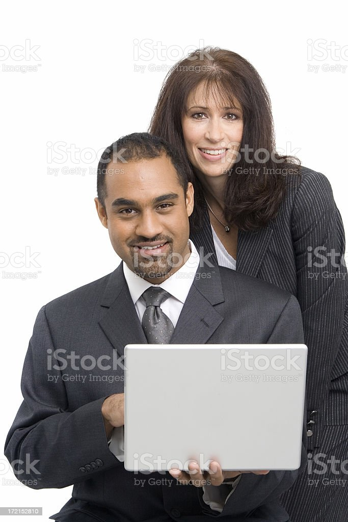 Team work with a smile royalty-free stock photo