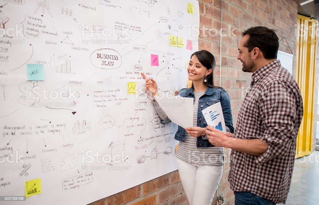Team working at a creative office stock photo