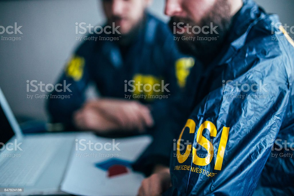 FBI team working stock photo