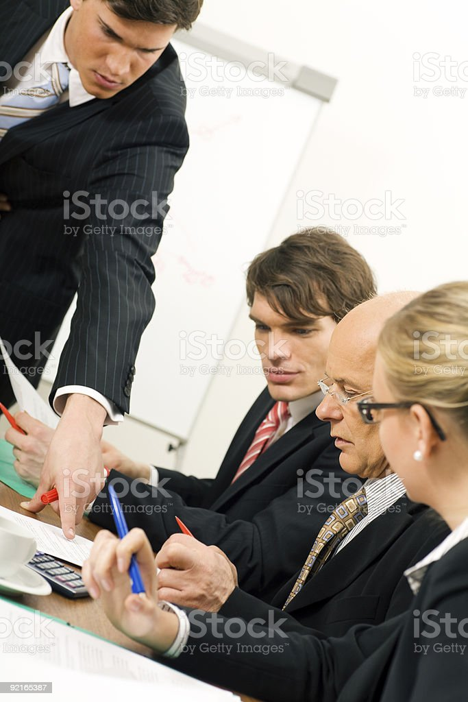 Team Worksession royalty-free stock photo