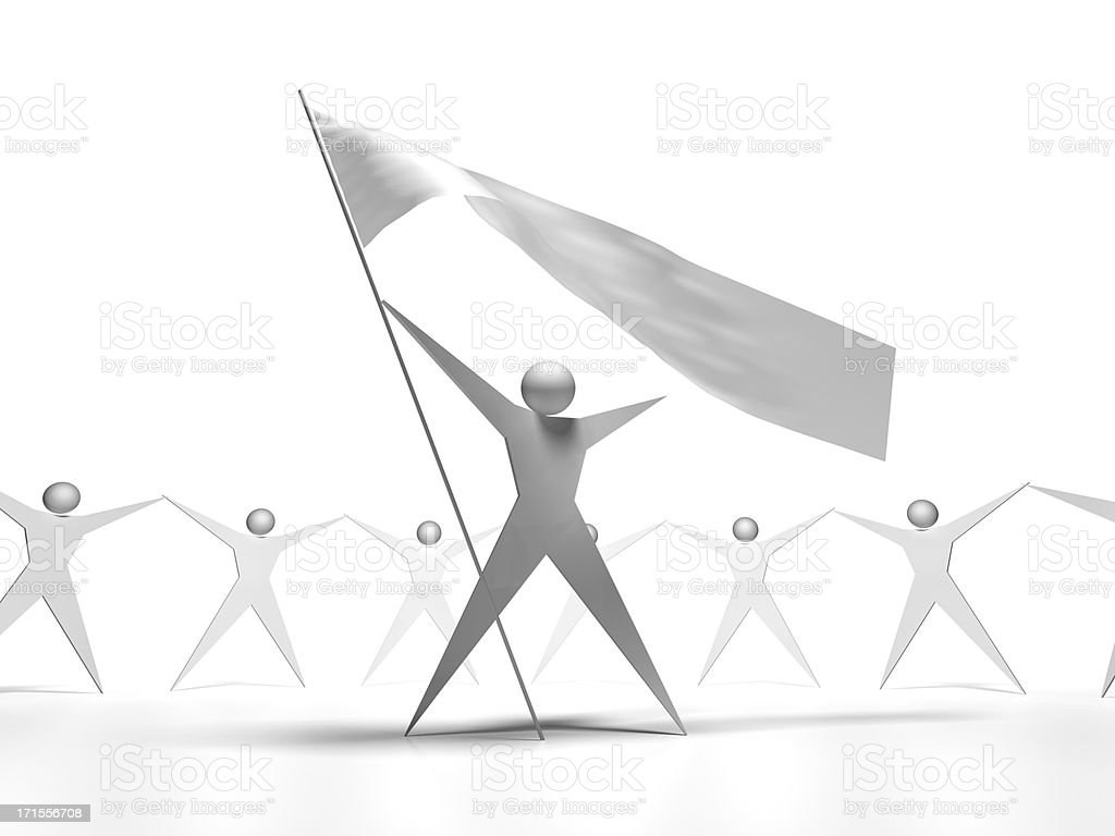 Team&Flag royalty-free stock photo