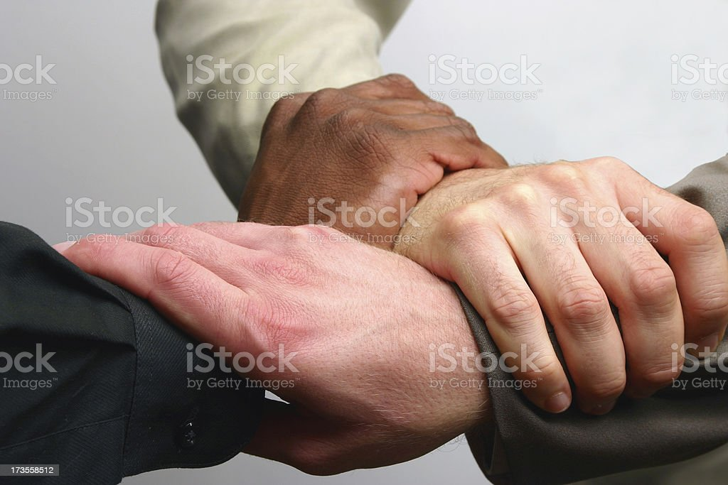 Teaming Up royalty-free stock photo