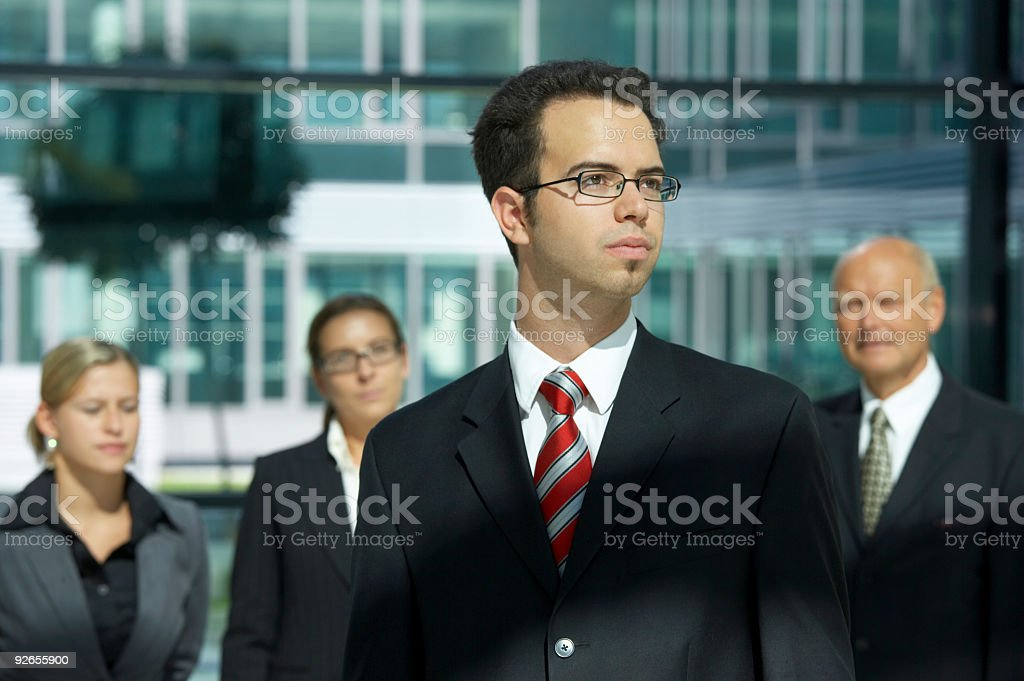 teamleader royalty-free stock photo
