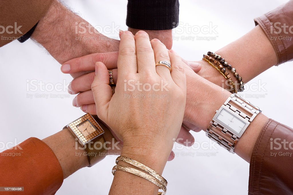 Teamwork - All For One royalty-free stock photo