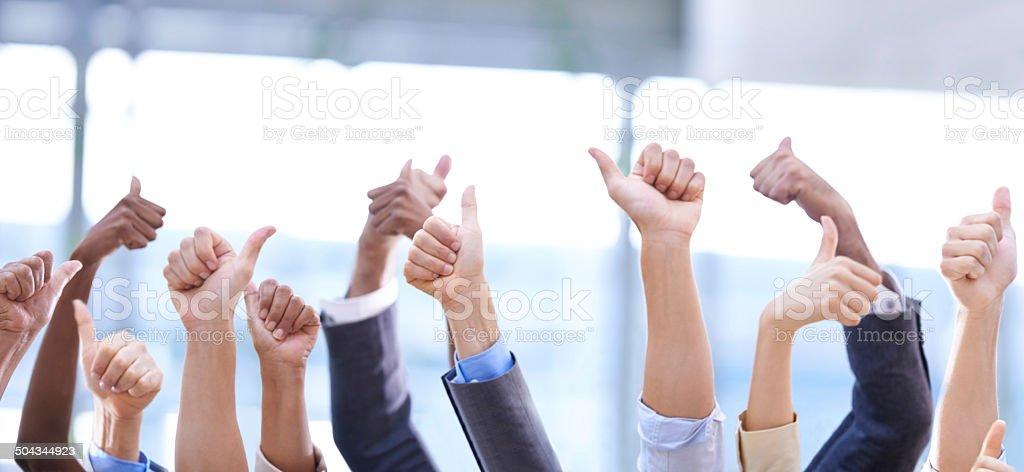Teamwork always wins the day stock photo