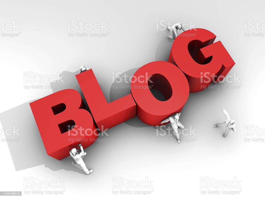 Teamwork and Blog Site stock photo