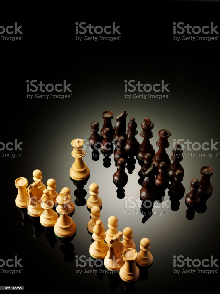 Teamwork and Chess Pieces royalty-free stock photo