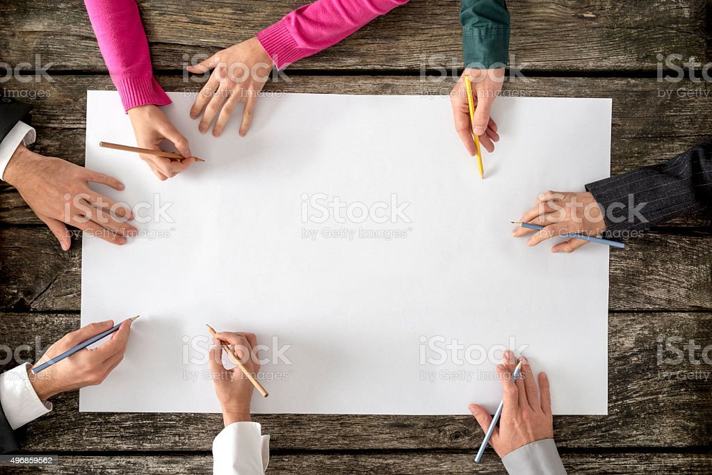 Teamwork and cooperation concept stock photo