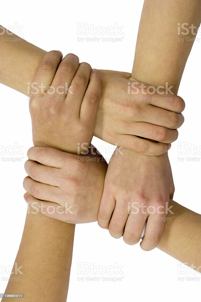 Teamwork And Friendship royalty-free stock photo
