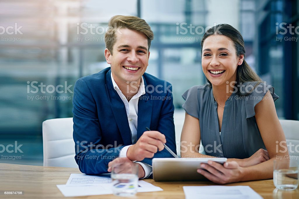Teamwork and hard work is a guaranteed winning combination stock photo