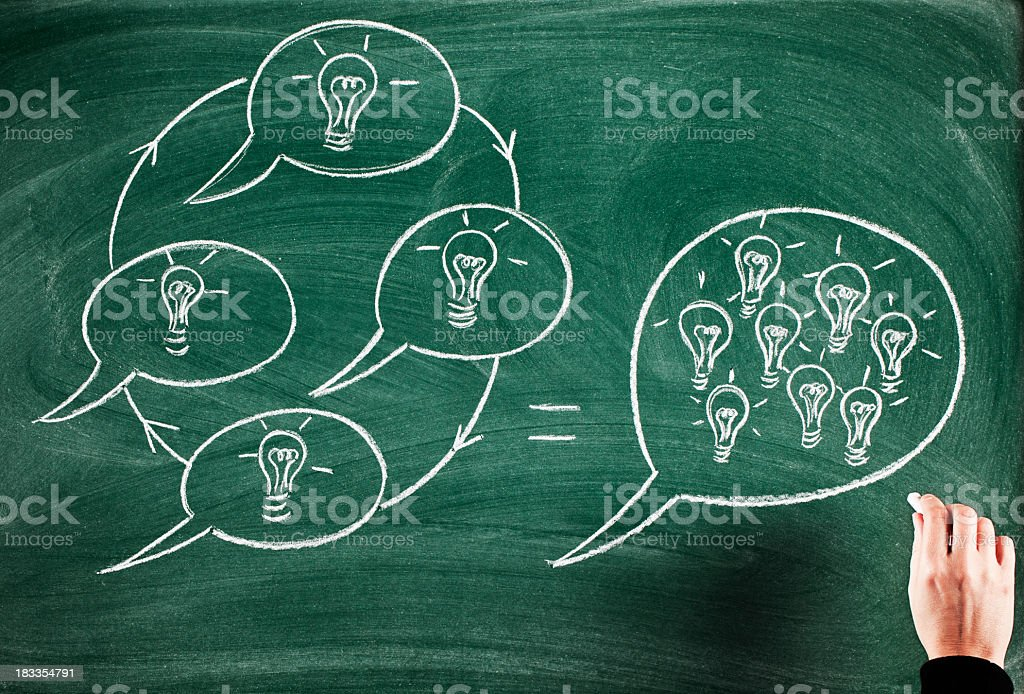 teamwork and innovation royalty-free stock photo
