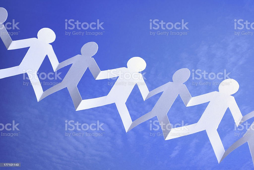 Teamwork and networking royalty-free stock photo