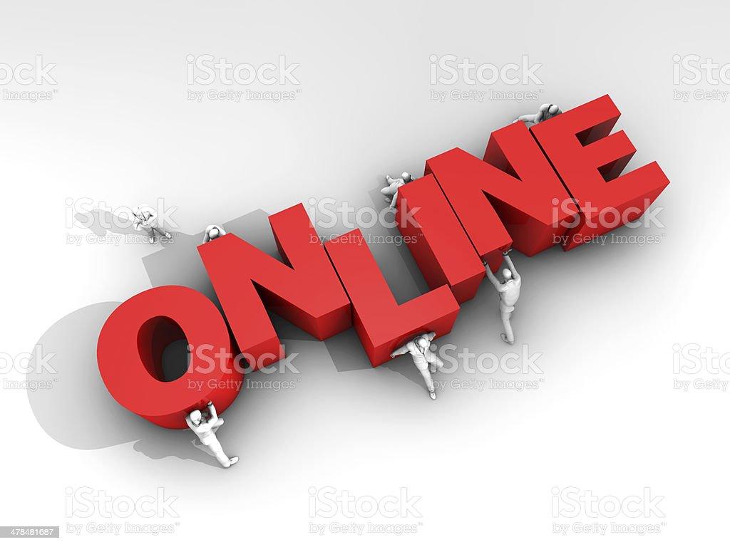 Teamwork and Online Status stock photo