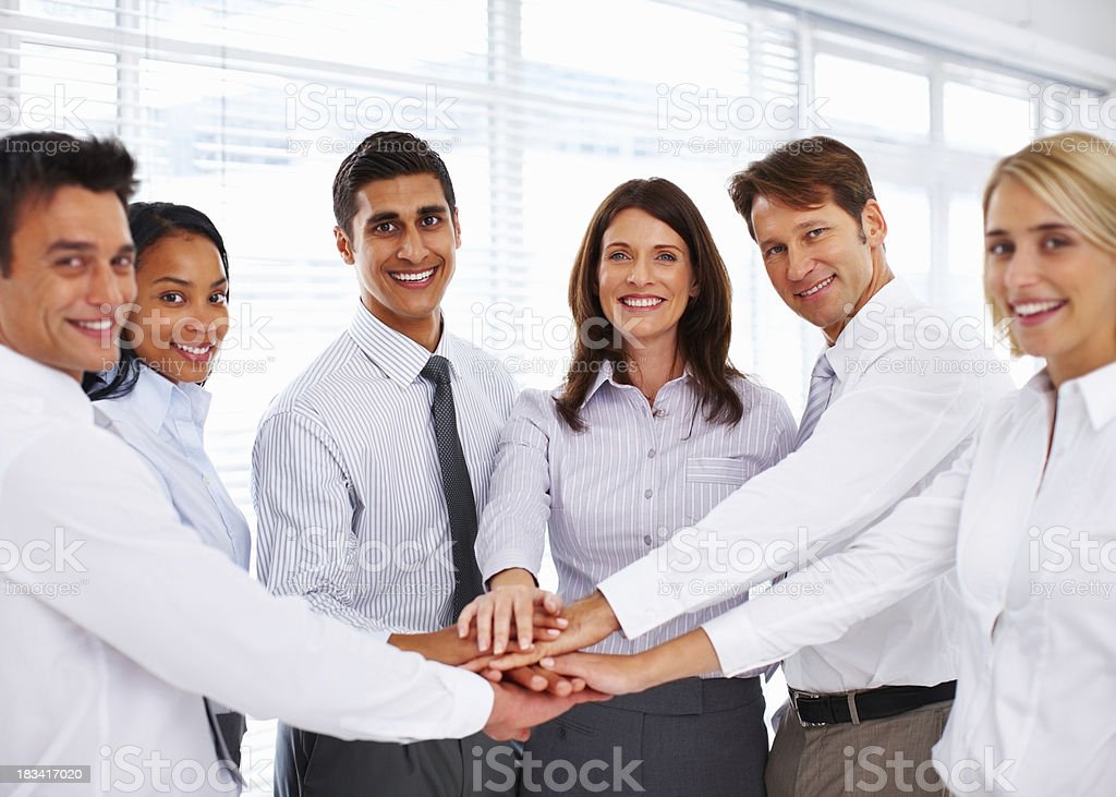 Teamwork and spirit royalty-free stock photo