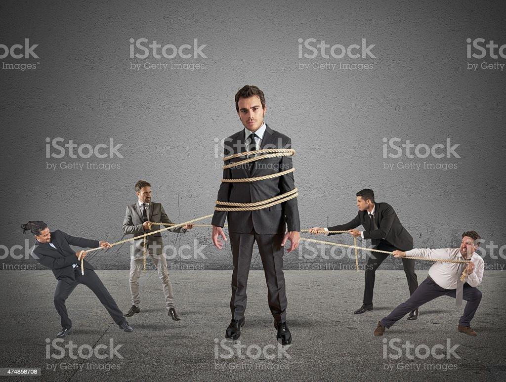 Teamwork and strength through unity stock photo