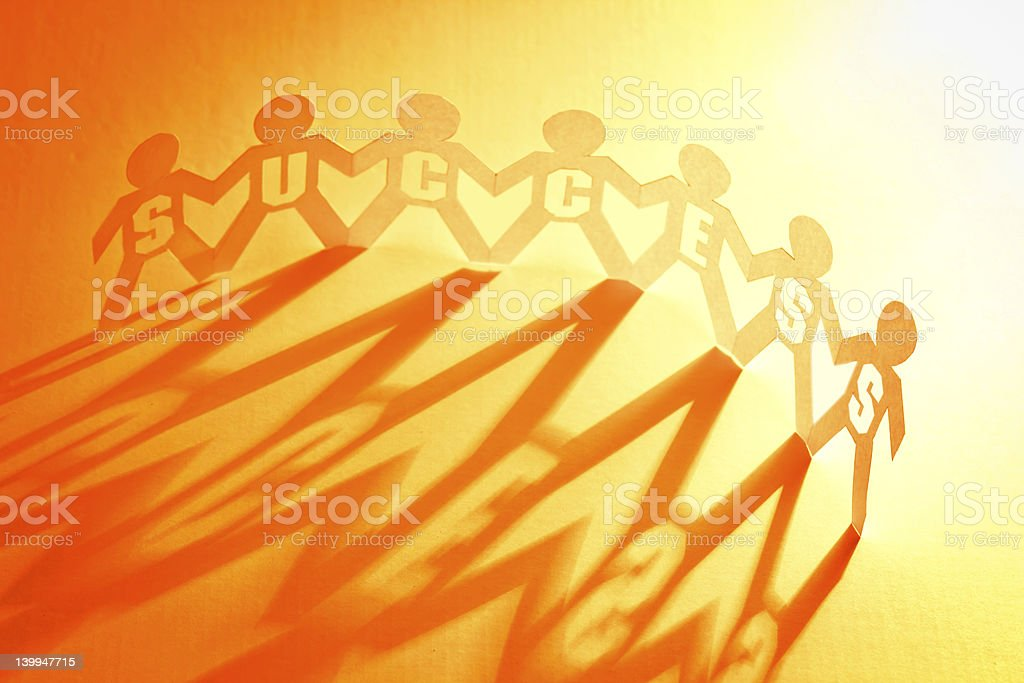 teamwork and success concept stock photo