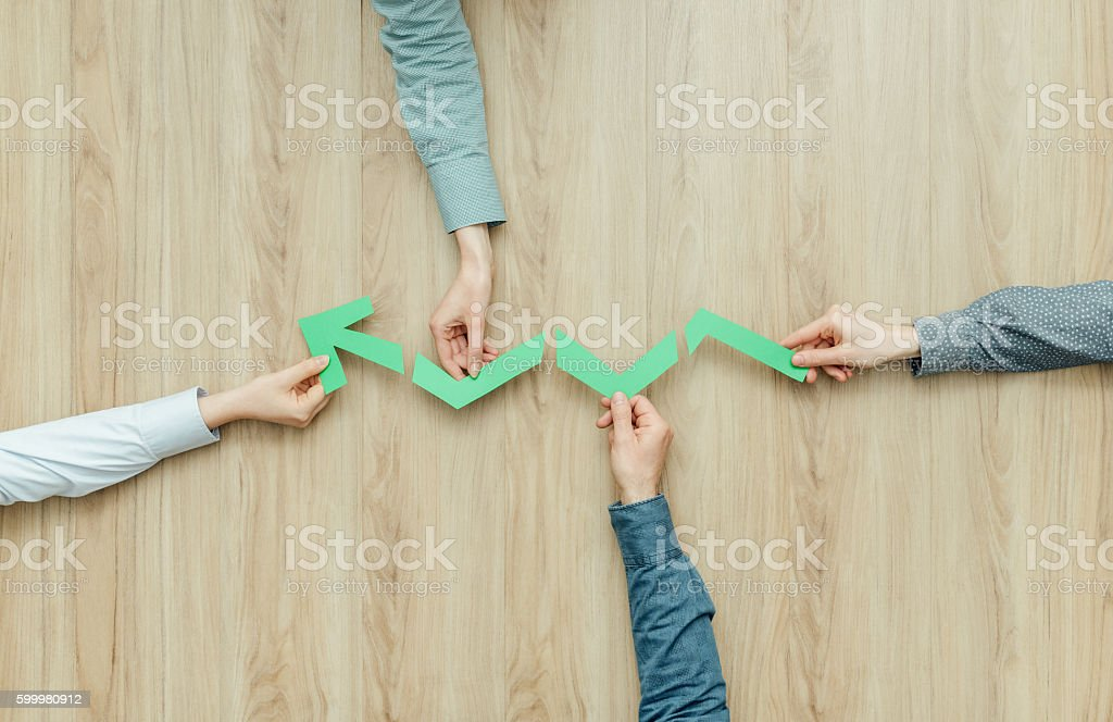 Teamwork and success stock photo