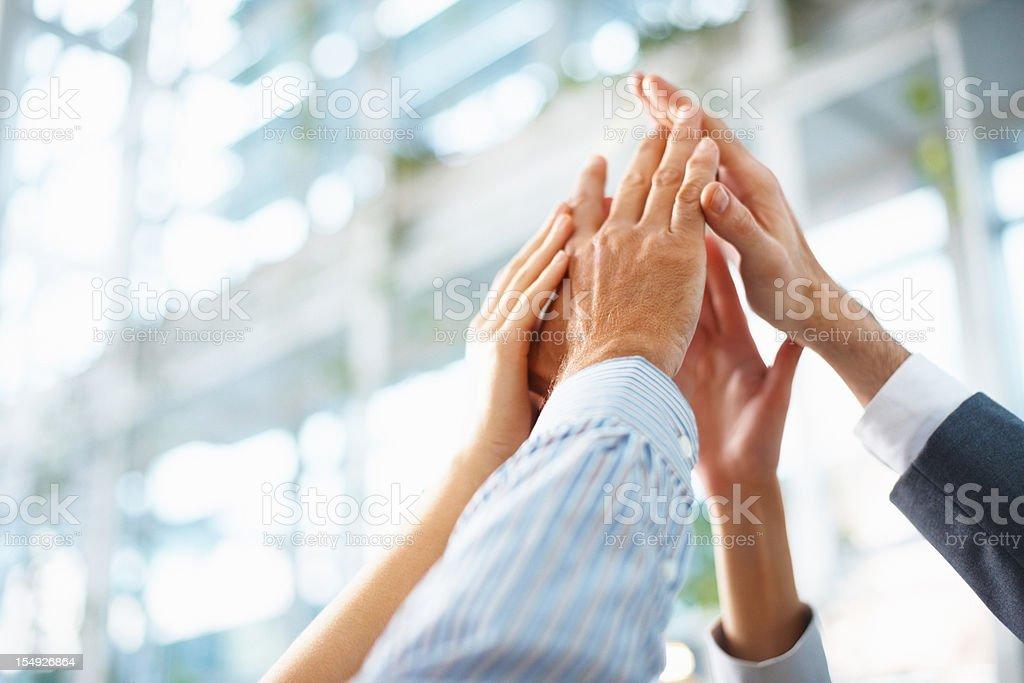 Teamwork and team spirit royalty-free stock photo