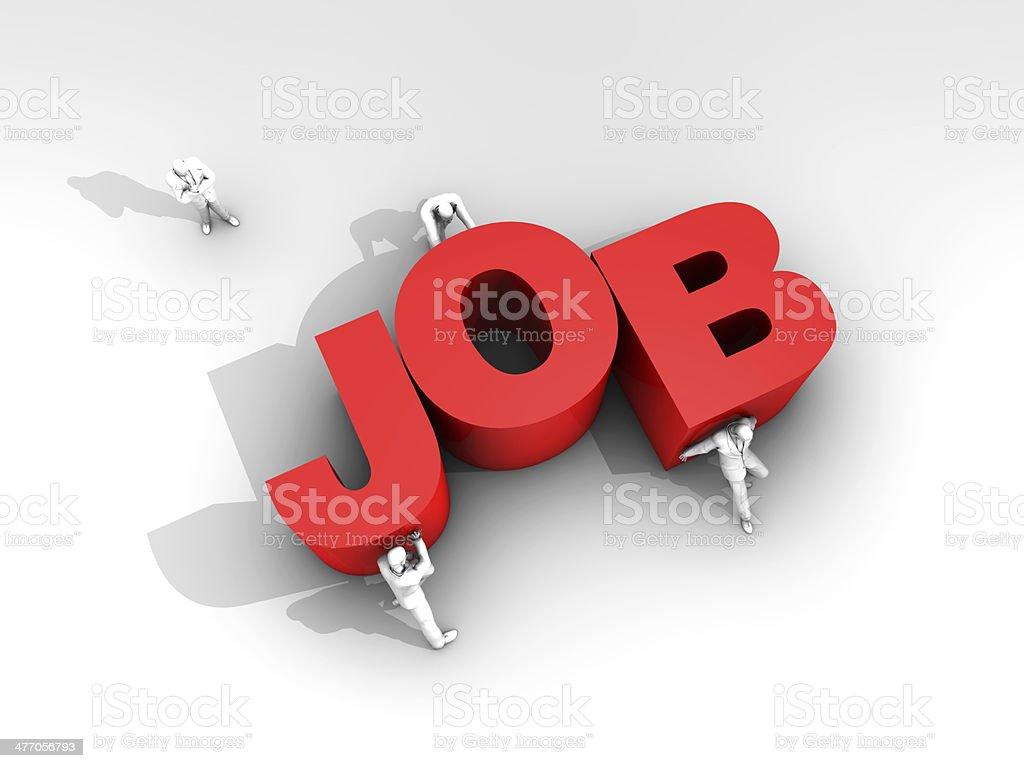 Teamwork and Word Job stock photo