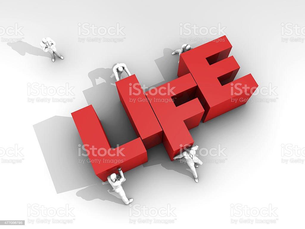 Teamwork and Word Life stock photo