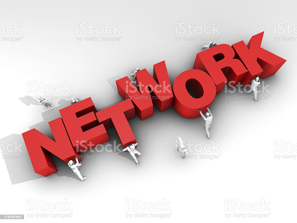 Teamwork and Word Network stock photo